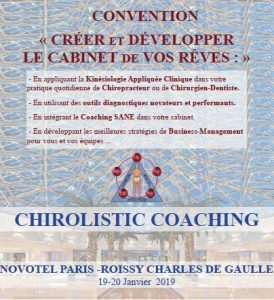 Participation à la convention de Chirolistic Coaching